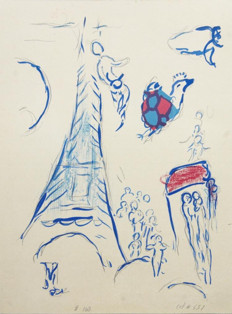 Marc Chagall - Eiffel Tower