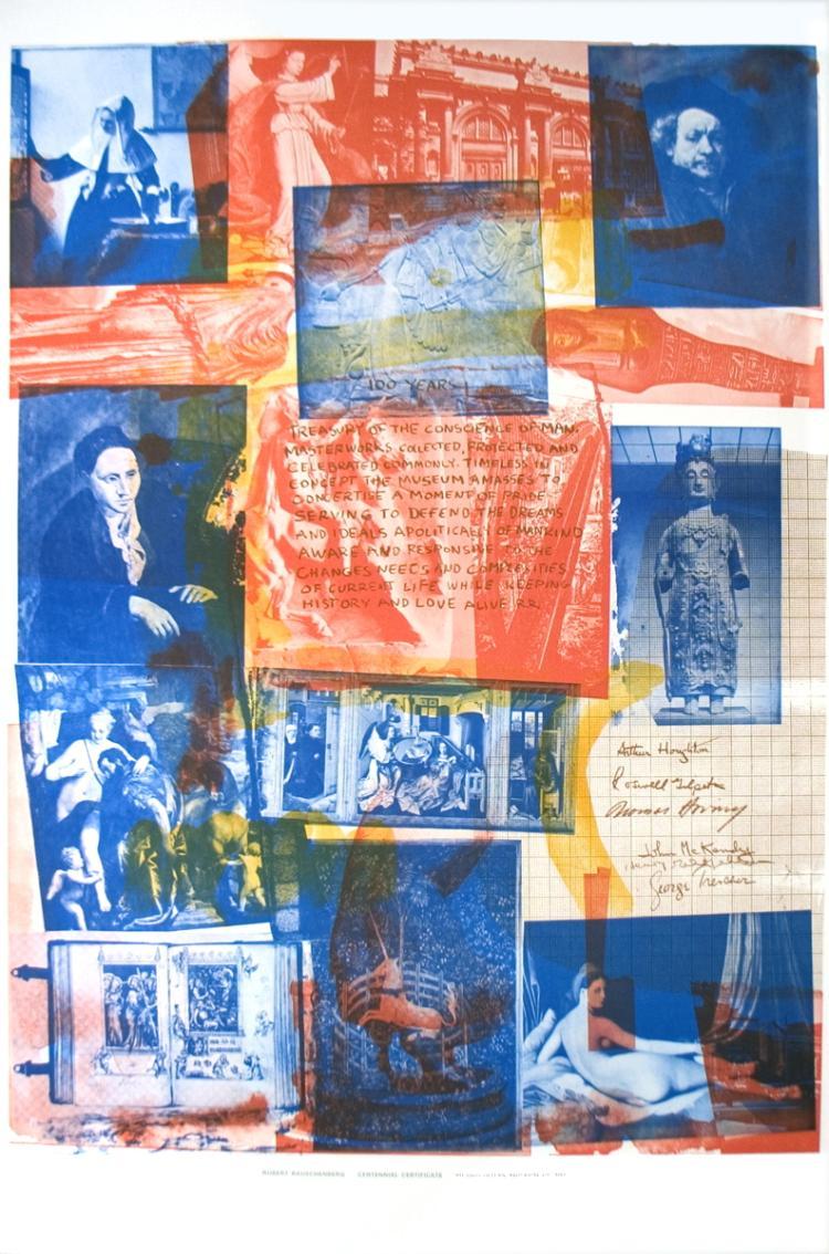 Robert Rauschenberg - 100 Years Treasury of the Conscience of Man (Centennial Certificate) - 1971