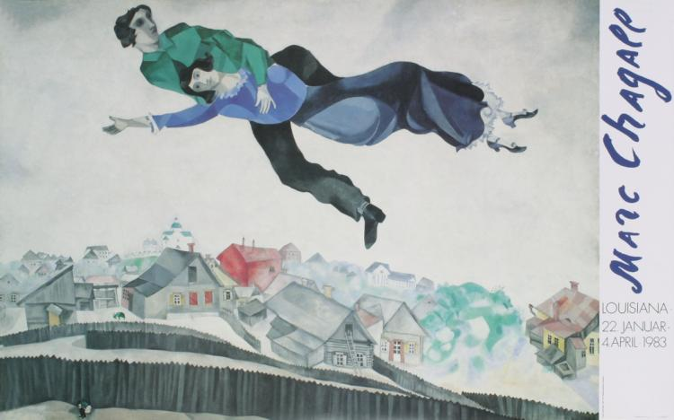 Marc Chagall - Above the City - 2001