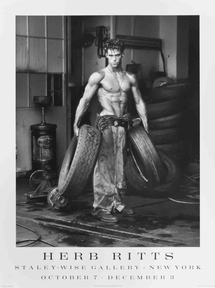 Herb Ritts - Fred with Tyres, Bodyshop Series - 1989