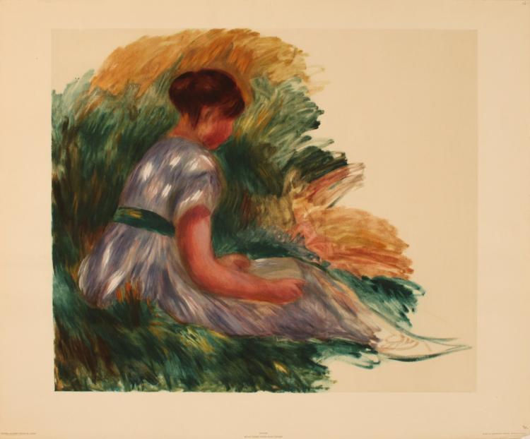 Pierre-Auguste Renoir - Jeune Femme Assise Dans L'Herbe