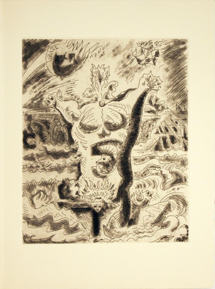 Andre Masson - Le Septieme Chant II - 1974