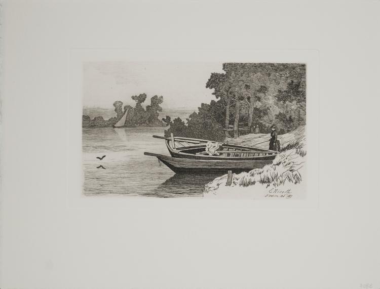 E Nicolle - River Scene
