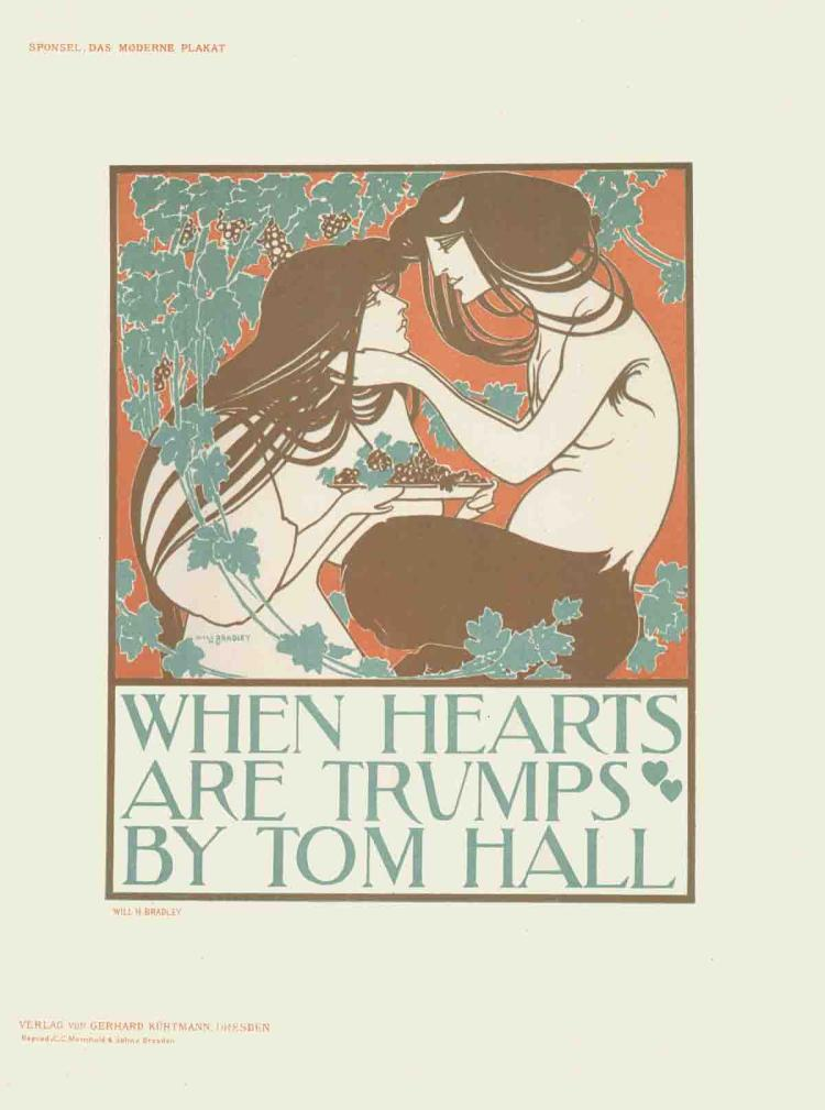 Will H. Bradley - When Hearts Art Trumps - 1897