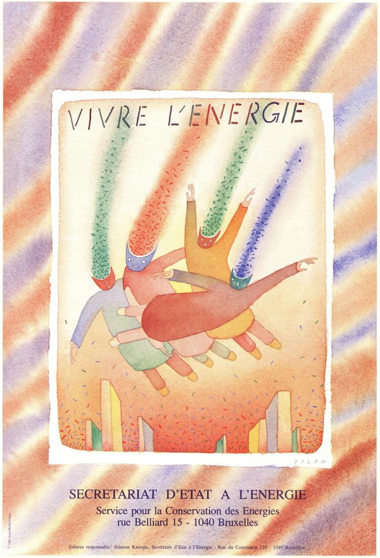 Jean-Michel Folon - Vivre L'energie - 1982