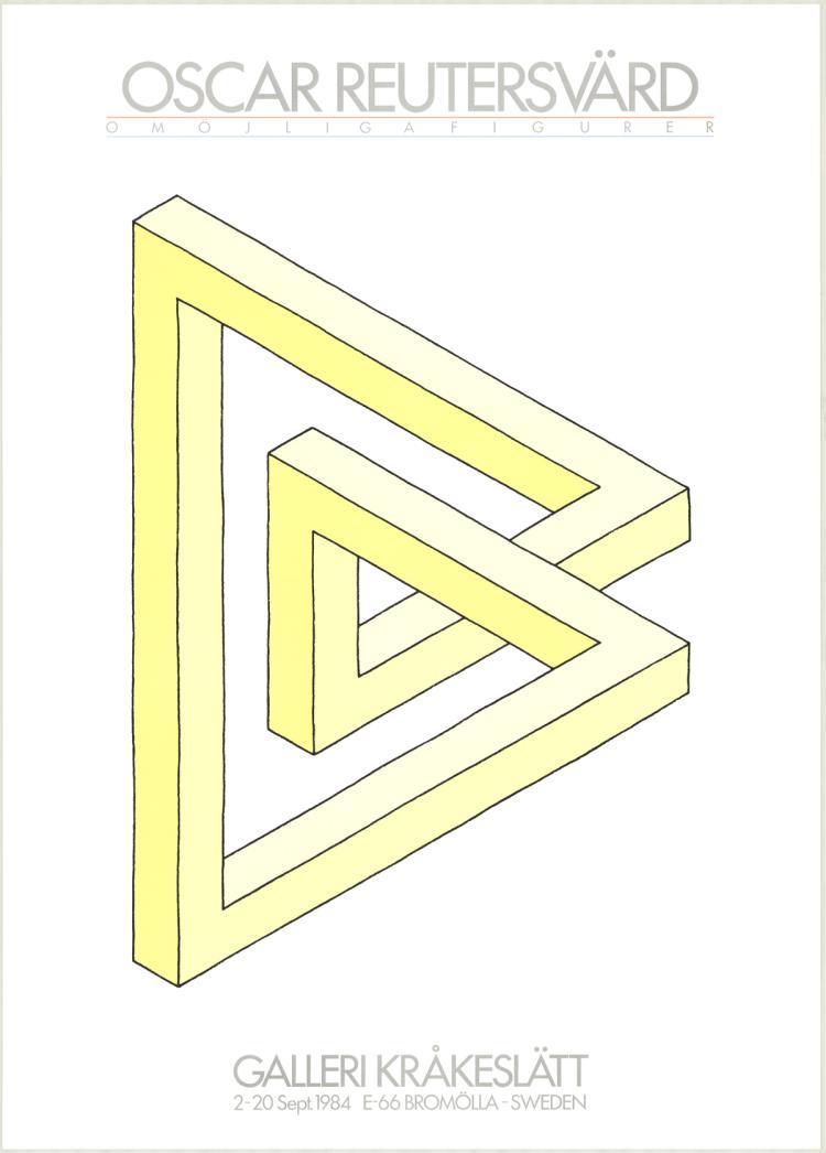 Oscar Reutersvard - Omojligafigurer (yellow) - 1984