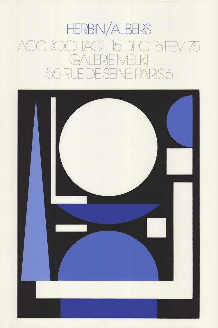 Auguste Herbin - Accrochage, Galerie Melki - 1975