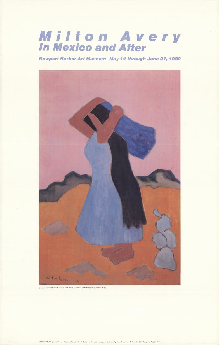 Milton Avery - Mexican Woman - 1982