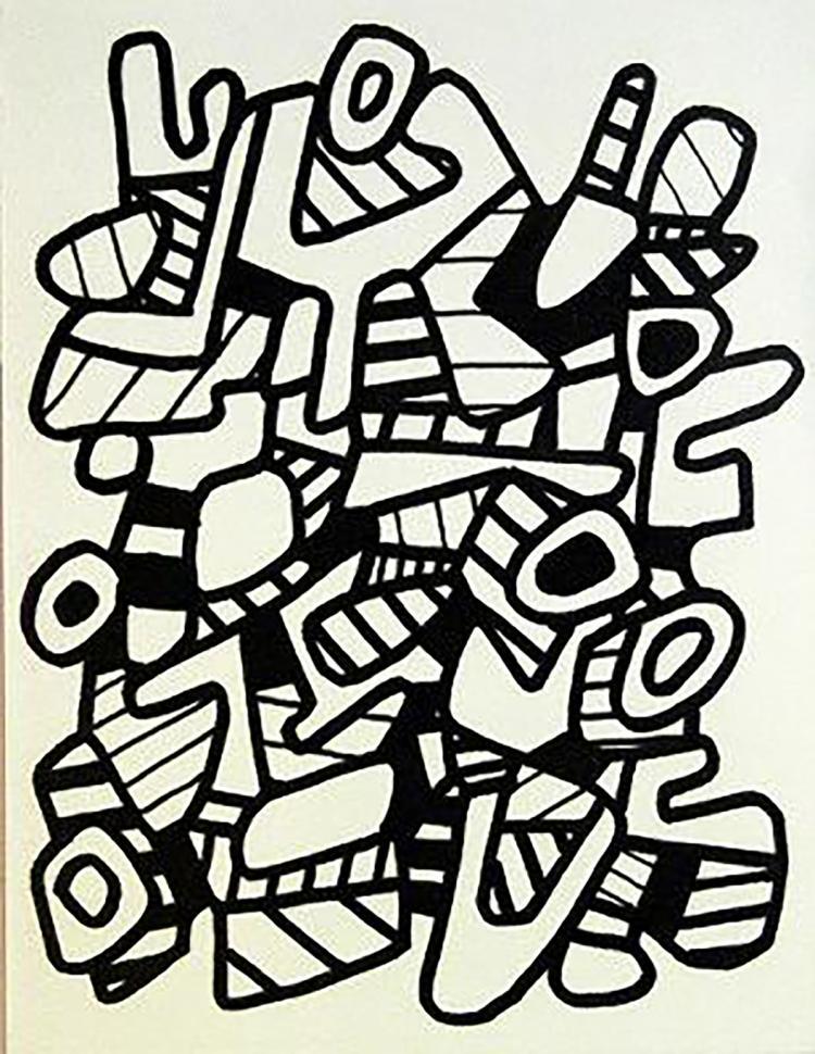 Jean Dubuffet - La Botte A Nique - 1973