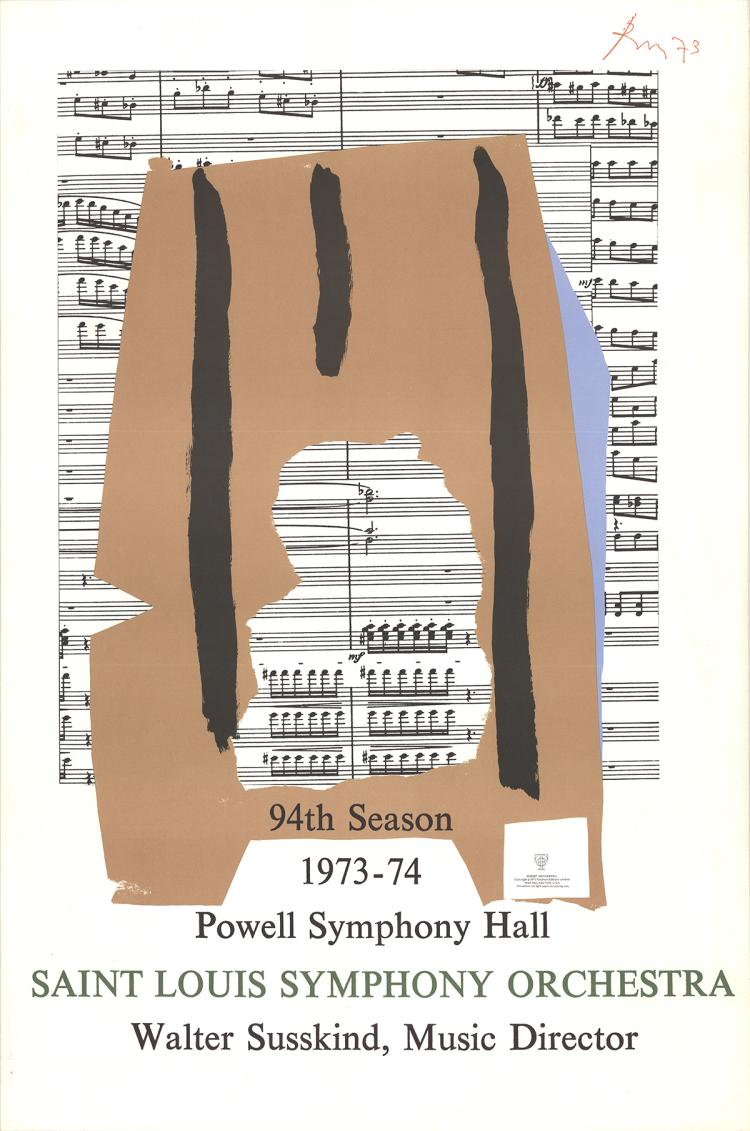 Robert Motherwell - St Louis Symphony - 1973