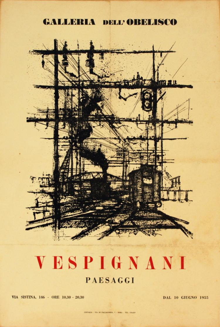 Renzo Vespignani - Invitation - 1955