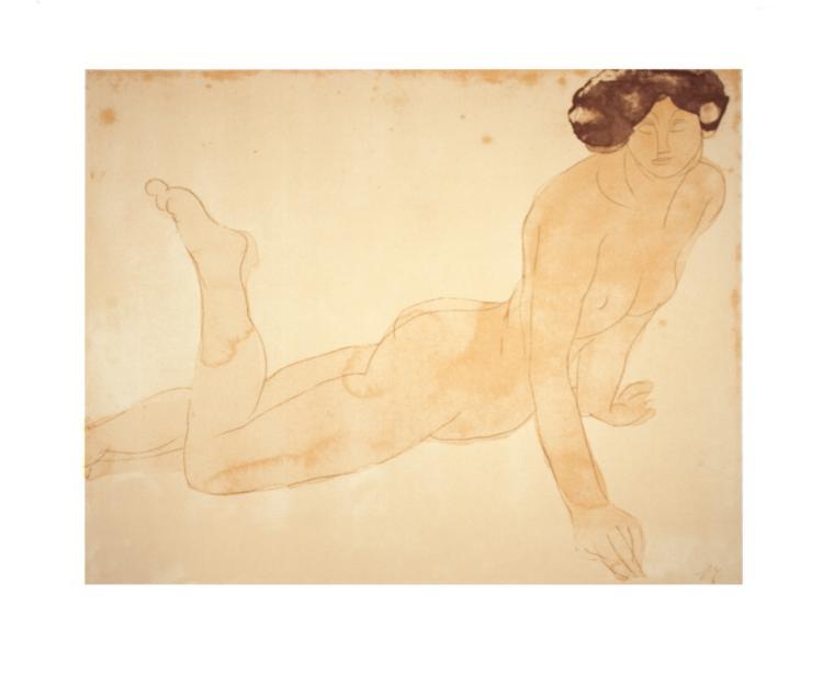 Auguste Rodin - Femme Nue, Allongee sur le Ventre