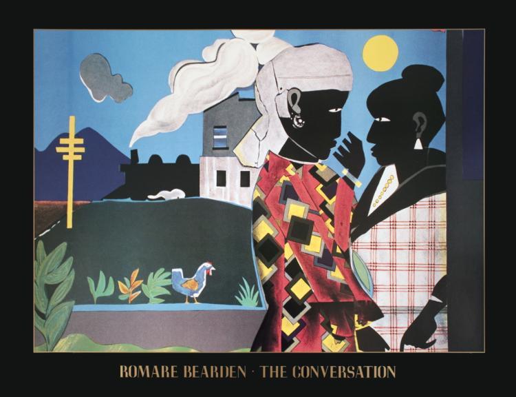 Romare Bearden - The Conversation - 1993