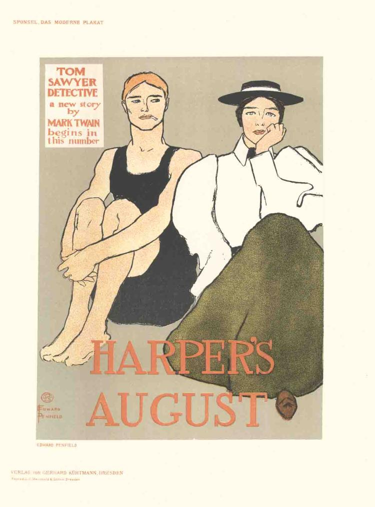 Edward Penfield - Harper's August - 1897