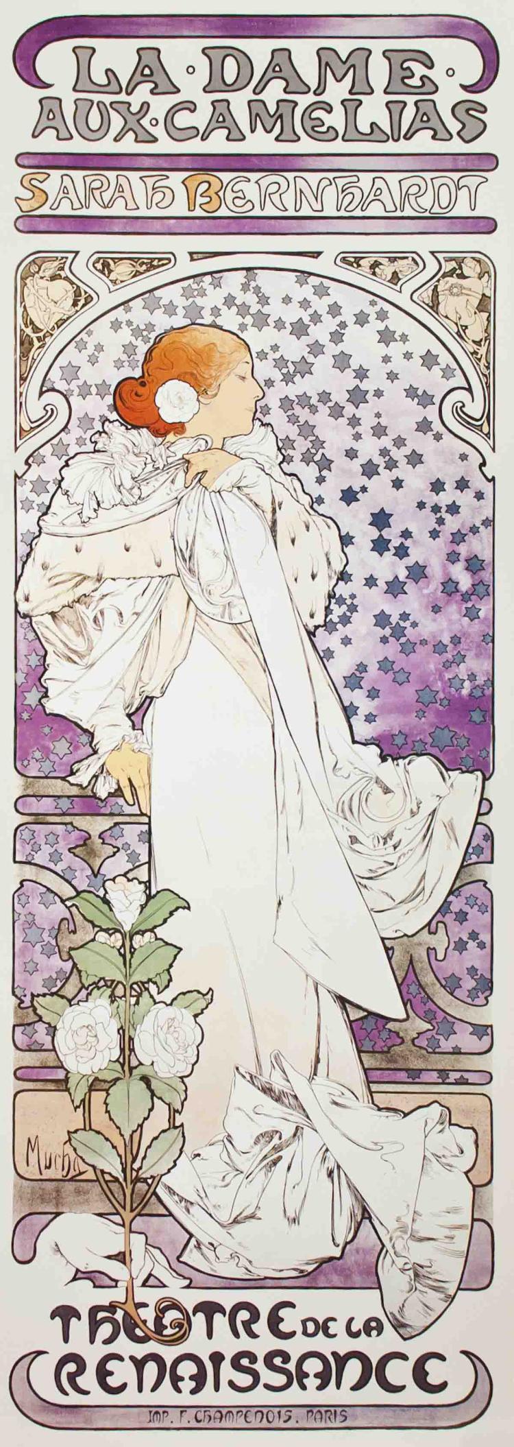 Alphonse Mucha - La Dame aux Camelias - 1993
