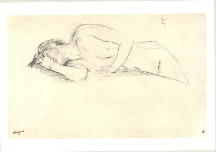 Edgar Degas - Naked Woman Lying on Her Stomach - 1997