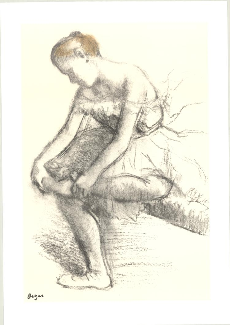 Edgar Degas - Dancer Seated - 1998