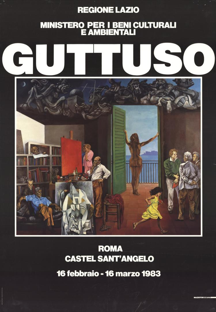 Renato Guttuso - View of the artist's studio - 1983