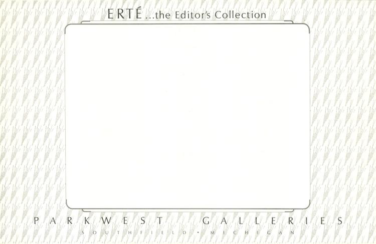 Erte - The Editor's Collection, Parkwest Galleries