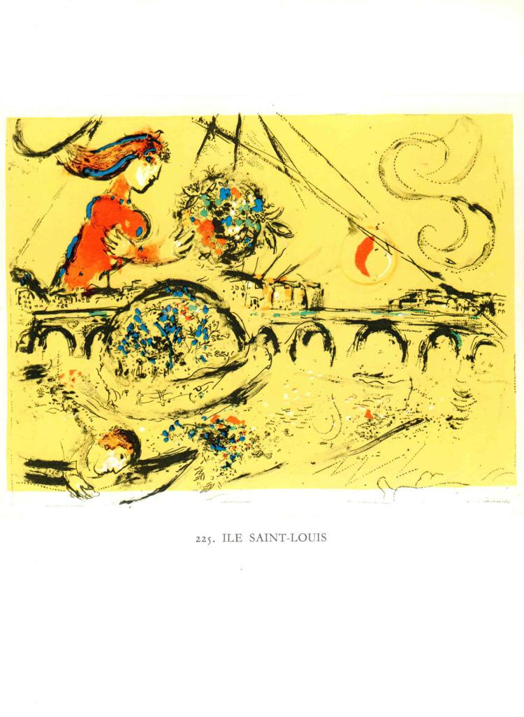Marc Chagall - Ile Saint-Louis - 1963