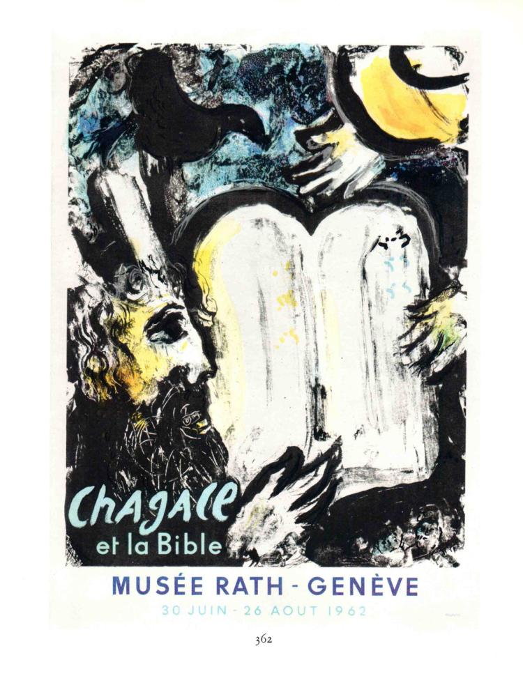 Marc Chagall - Moise et les Tables de la Loi - 1963