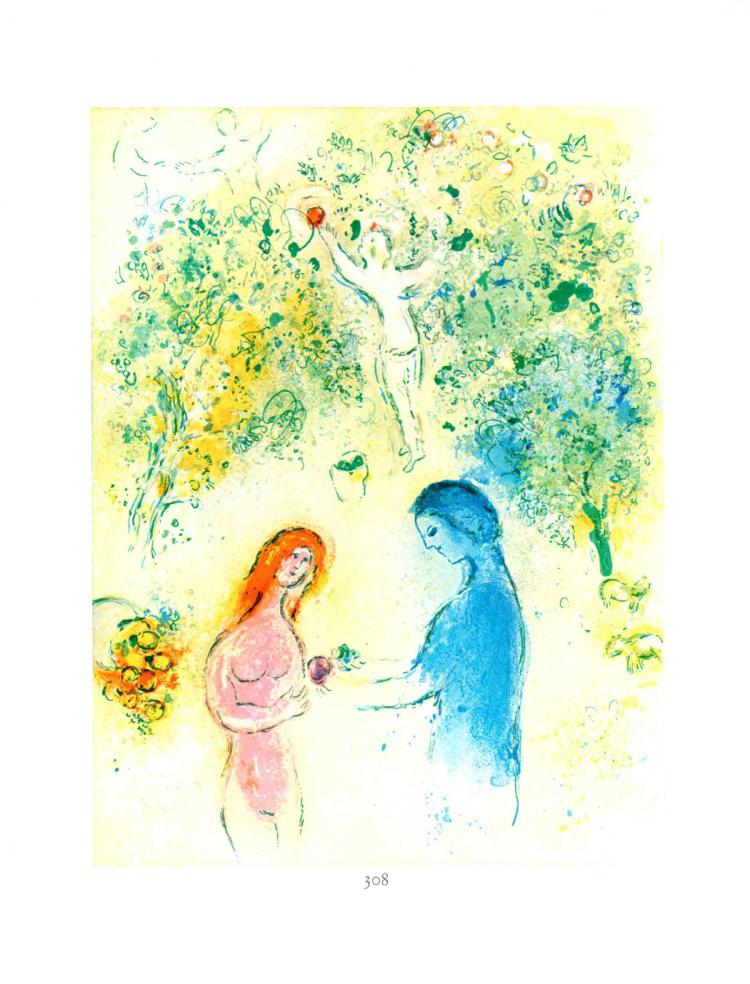 Marc Chagall - Daphnis et Chloe - Frontspice - 1963