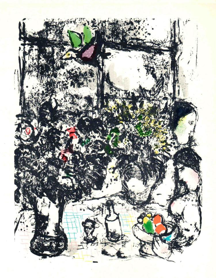 Marc Chagall - Nature Morte Au Bouquet - 1963