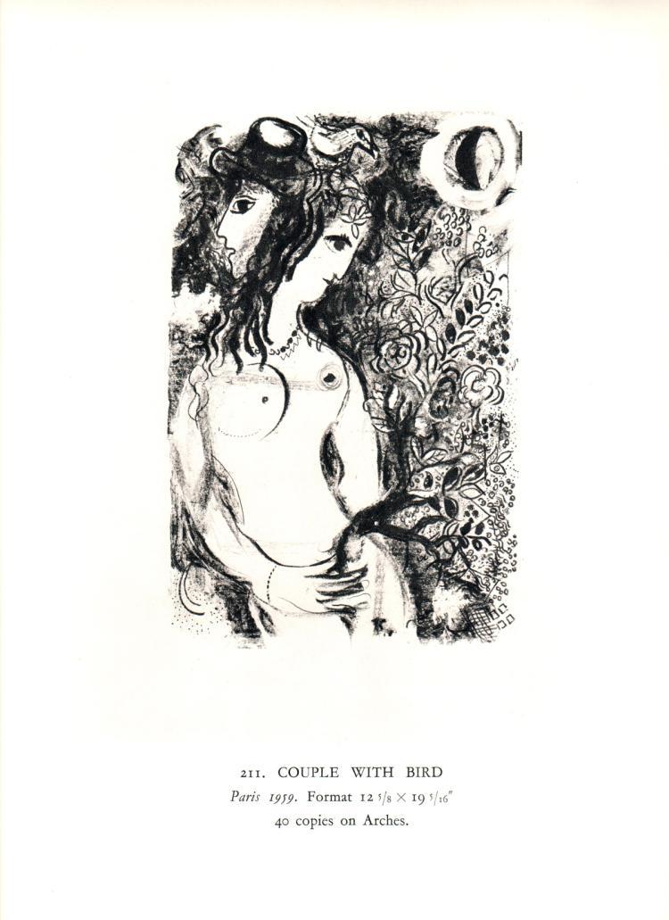 Marc Chagall - Couple a l'Oiseau - 1963