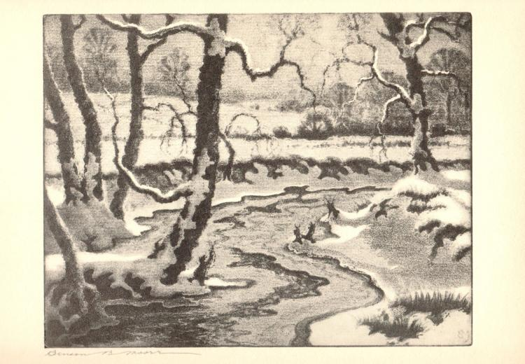 Benson B Moore - Frozen Streams - 1936