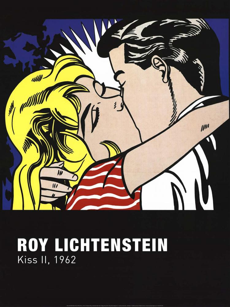 Roy Lichtenstein - Kiss II - 2012