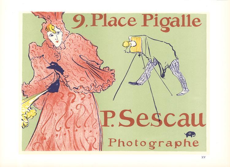 Henri de Toulouse-Lautrec - 9 Place Pigalle P. Sescall Photographe - 1966