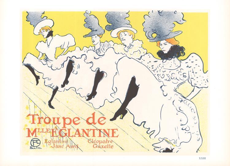 Henri de Toulouse-Lautrec - Troupe de Mlle Eglantine - 1966
