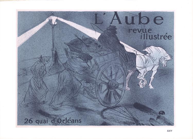 Henri de Toulouse-Lautrec - L' Aube revue illustree - 1966