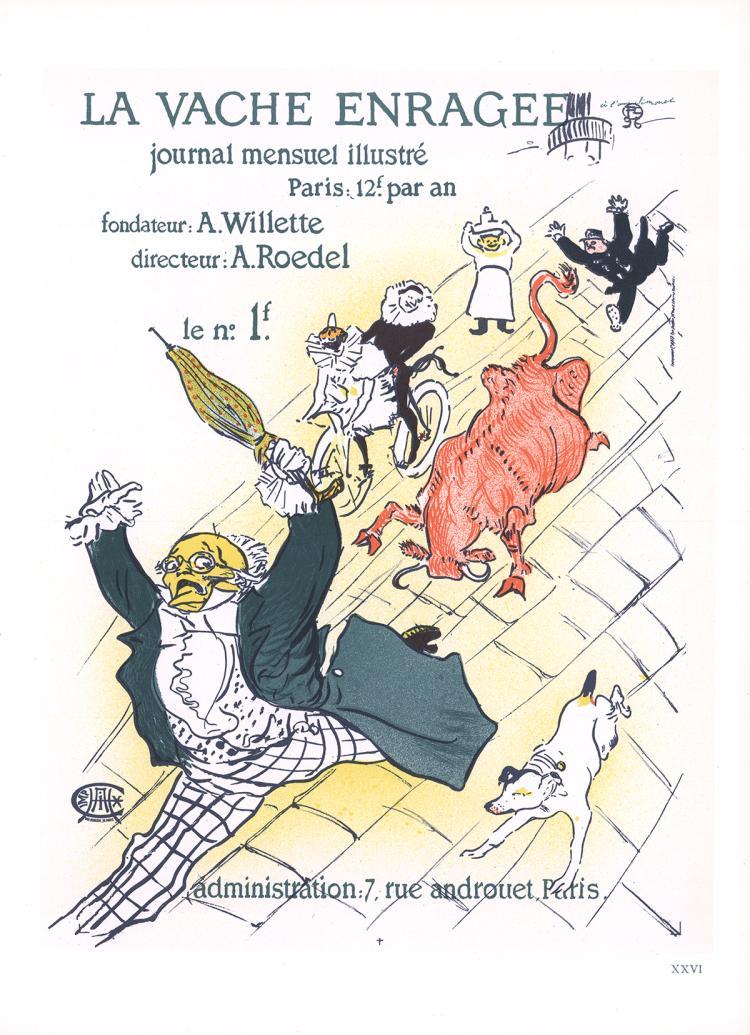 Henri de Toulouse-Lautrec - La Vache Enragee - 1966