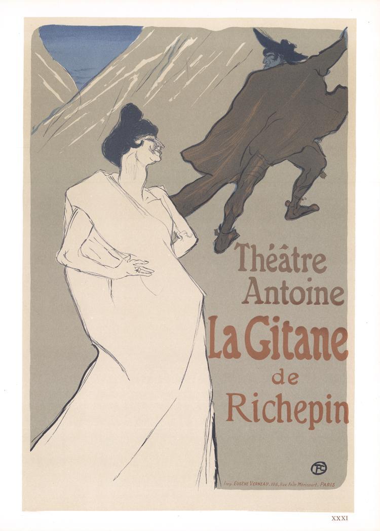 Henri de Toulouse-Lautrec - La Gitane de Richepin - 1966