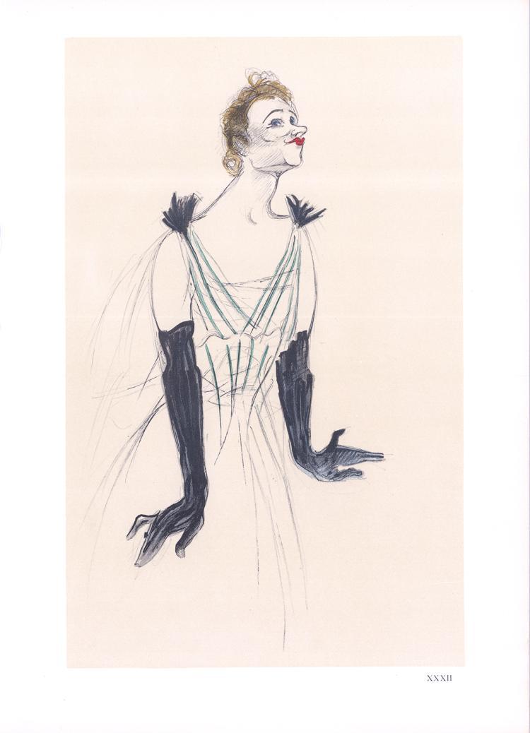 Henri de Toulouse-Lautrec - Portrait d'Yvette Guilbert - 1966