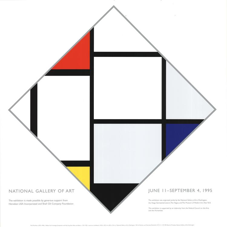 Piet Mondrian - National Gallery, Washington - 1995