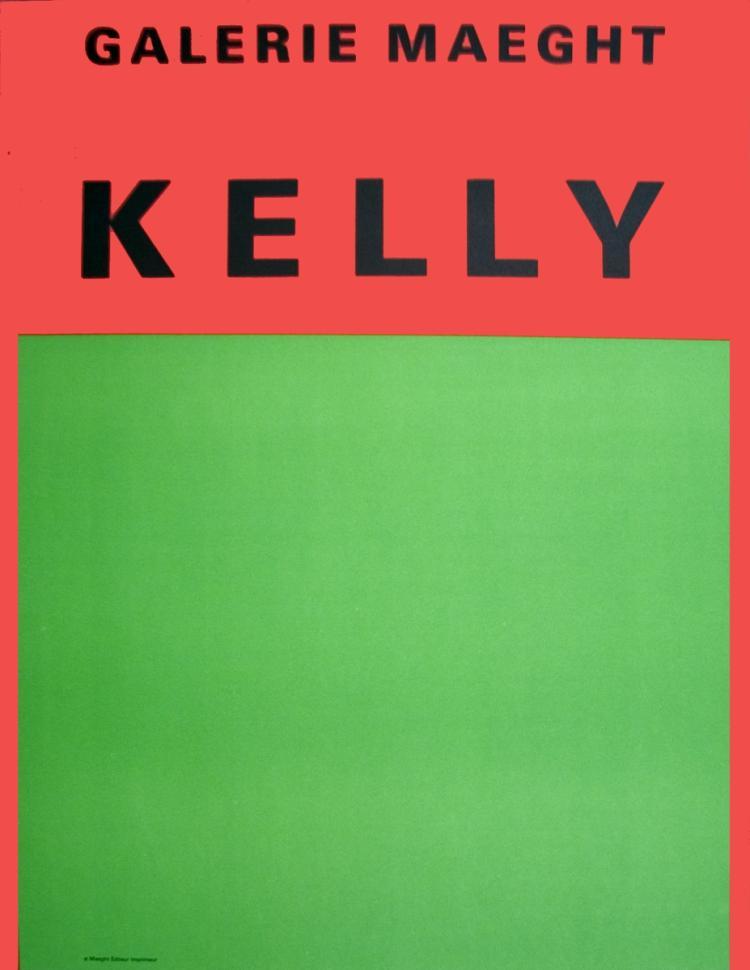Ellsworth Kelly - Orange Et Vert - 1964