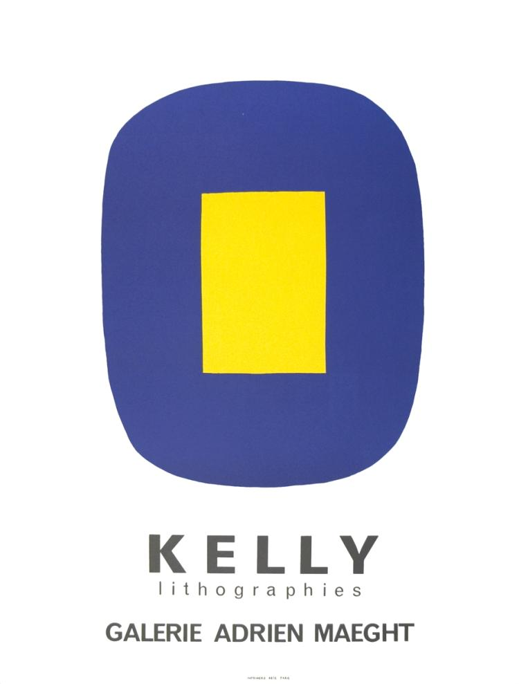 Ellsworth Kelly - Jaune Sur Bleu - 1965
