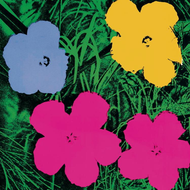Andy Warhol - Flowers (Lg) - 1989