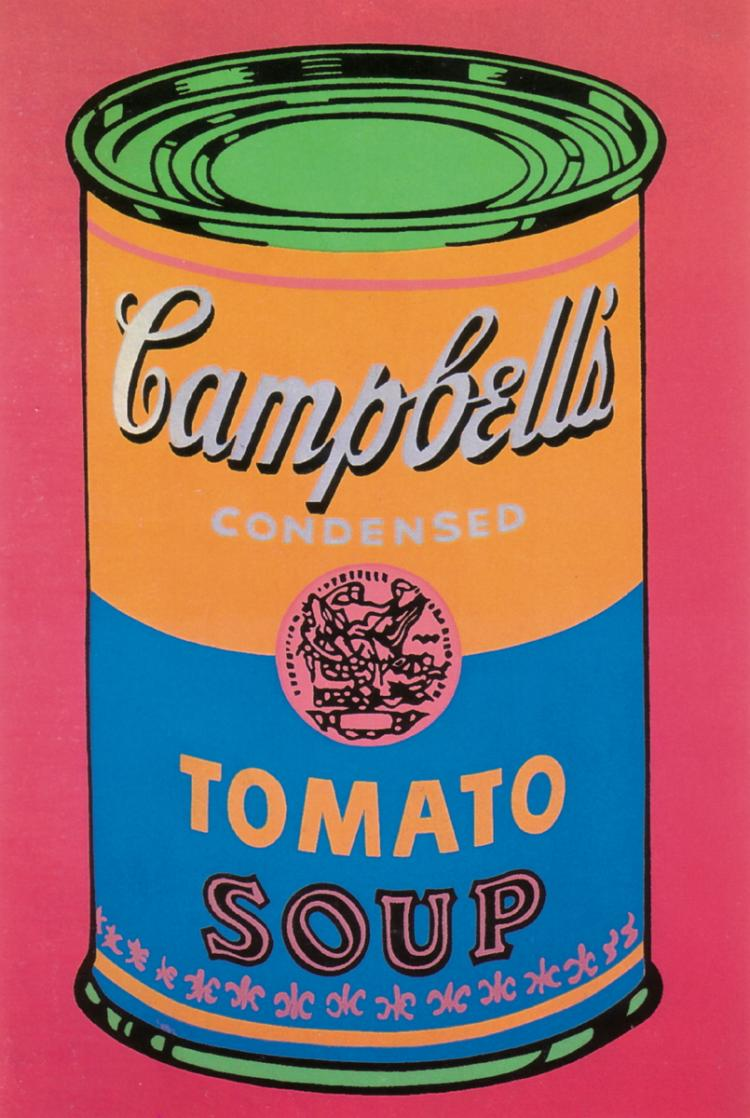 Andy Warhol - Soup Can Tomato Colored-Large - 1993