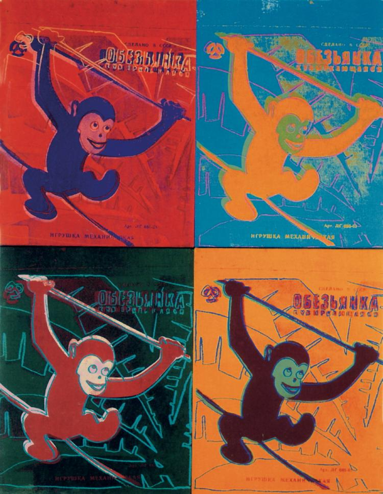Andy Warhol - Four Monkeys (Lg) - 1990