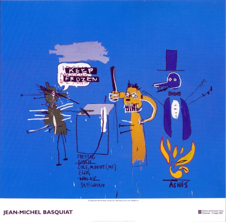 Jean-Michel Basquiat - The Dingoes that Park Their Brain with Their Gum - 2002
