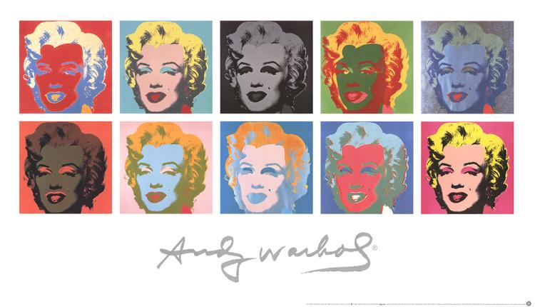 Andy Warhol - 10 Marilyns on White Background - 1997