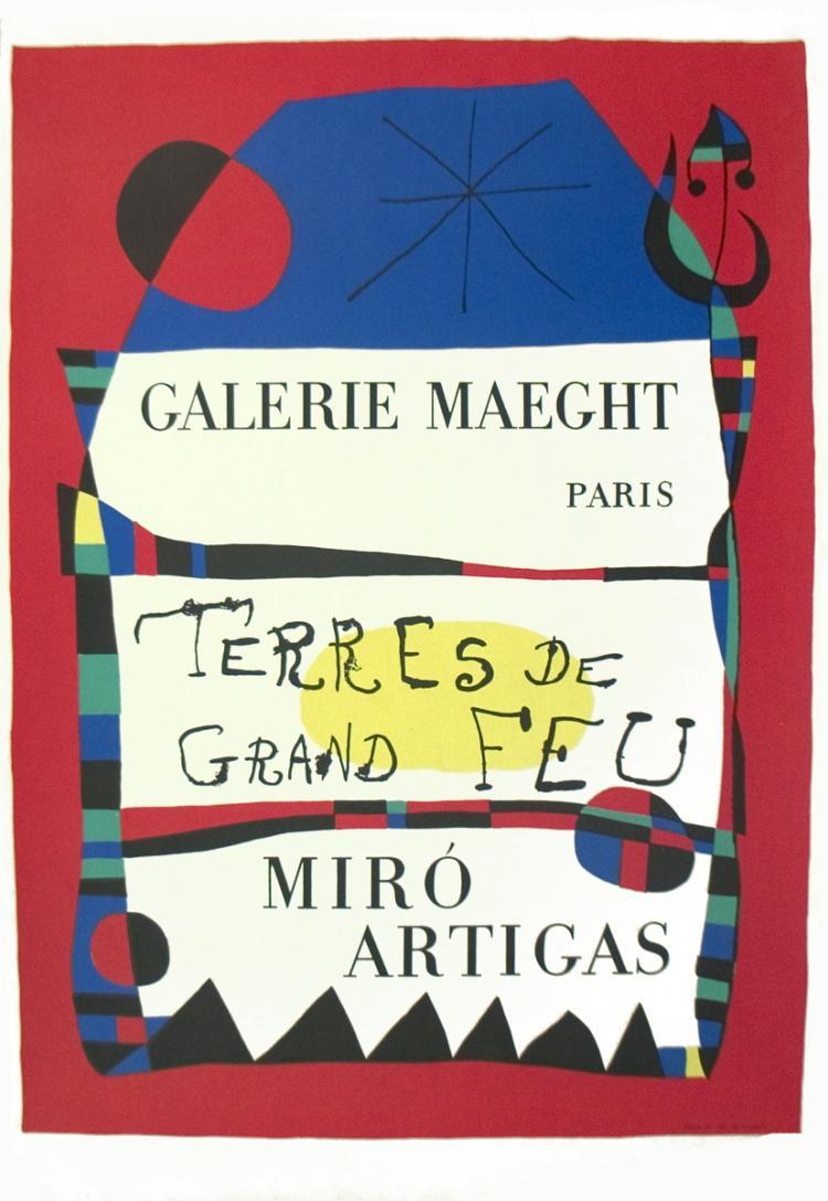 Joan Miro - Terres De Grand Feu - 1956