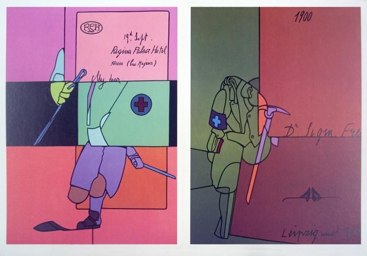 Valerio Adami - Derriere le Miroir, no. 206 page - 1973