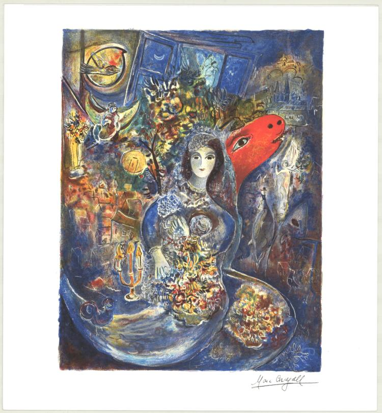 Marc Chagall - Bella's Wedding-Mini