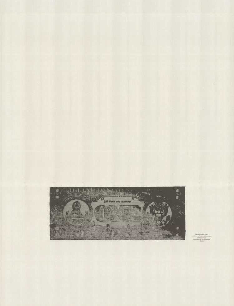 Andy Warhol - One-Dollar Bills - 1990