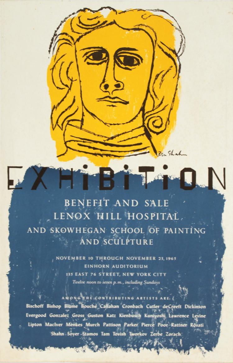 Ben Shahn - Lenox Hill Hospital Sale - 1965