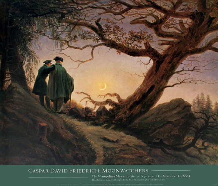 Caspar David Friedrich - Two Men Contemplating the Moon - 2001